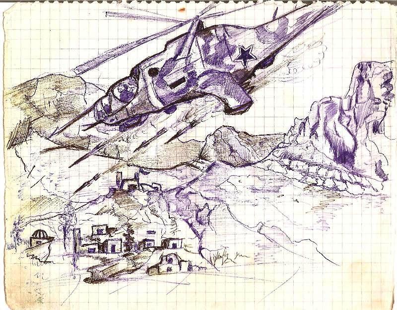 рисунок карандашом варежка
